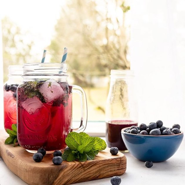 Goodie Godmother Blueberry Mint Mocktail