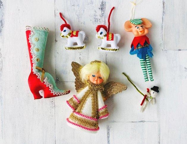 Kitschy 1970s ornaments