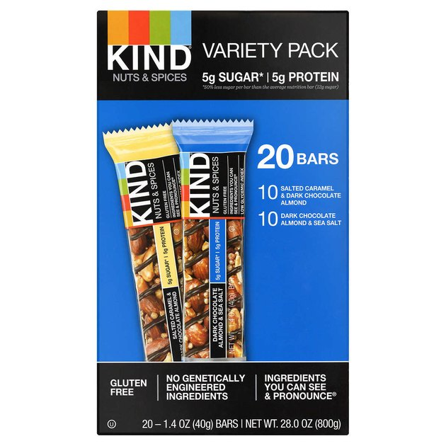 Kind Bars Variety Pack, 20-count, $21.49