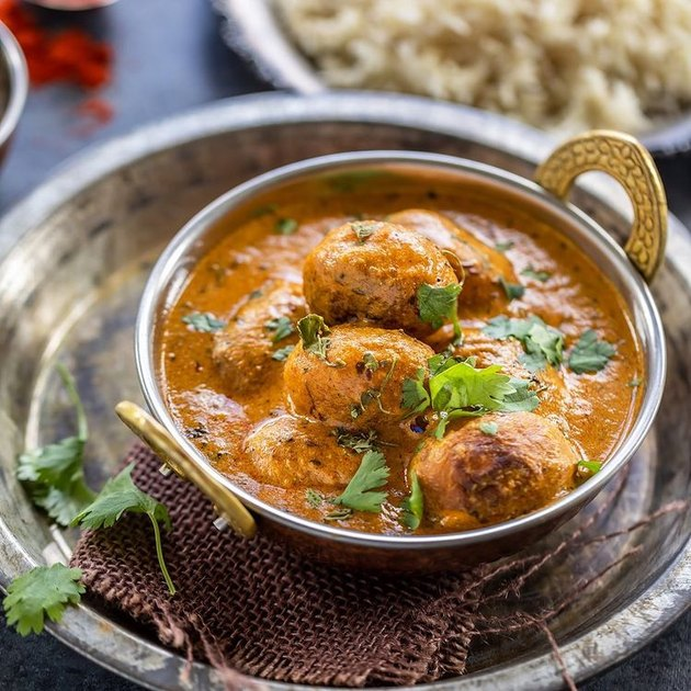 Cook with Manali Punjabi Dum Aloo in silver bowl