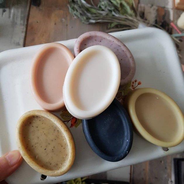 soap set on tray