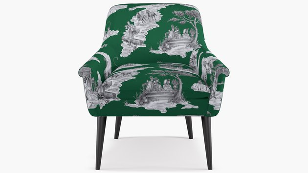 sheila bridges green chair with patterns