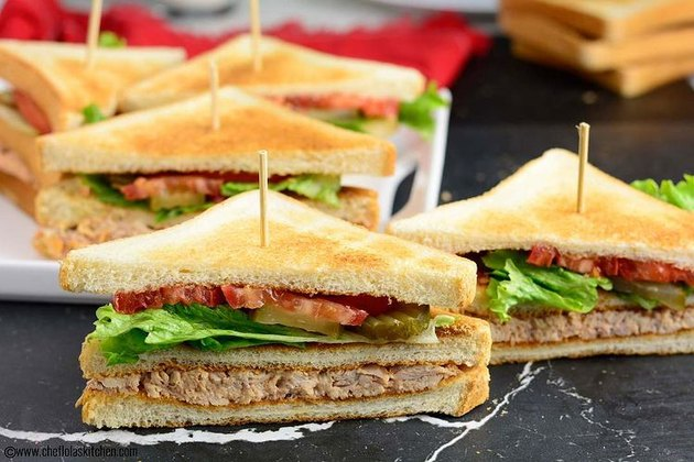 Chef Lola's Kitchen Chicken Club Sandwich