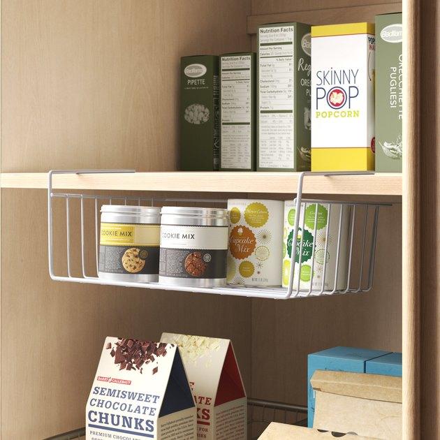 under shelf basket for kitchen cabinet