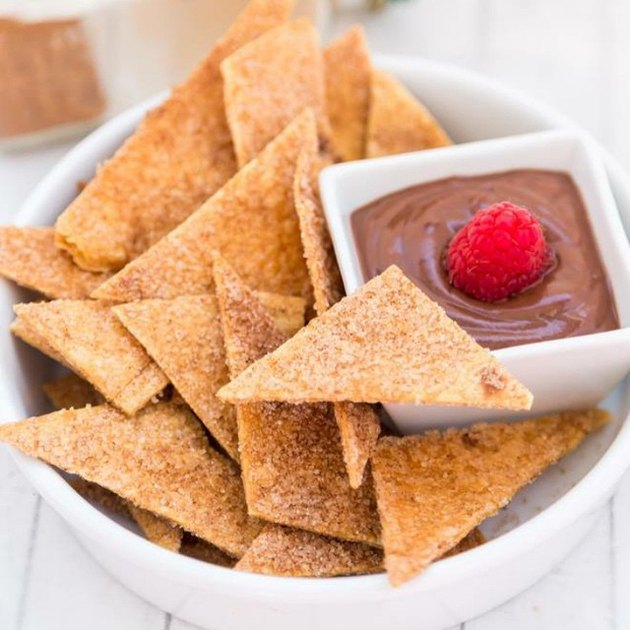 Cook With Manali Cinnamon Sugar Tortilla Chips with Nutella Dip