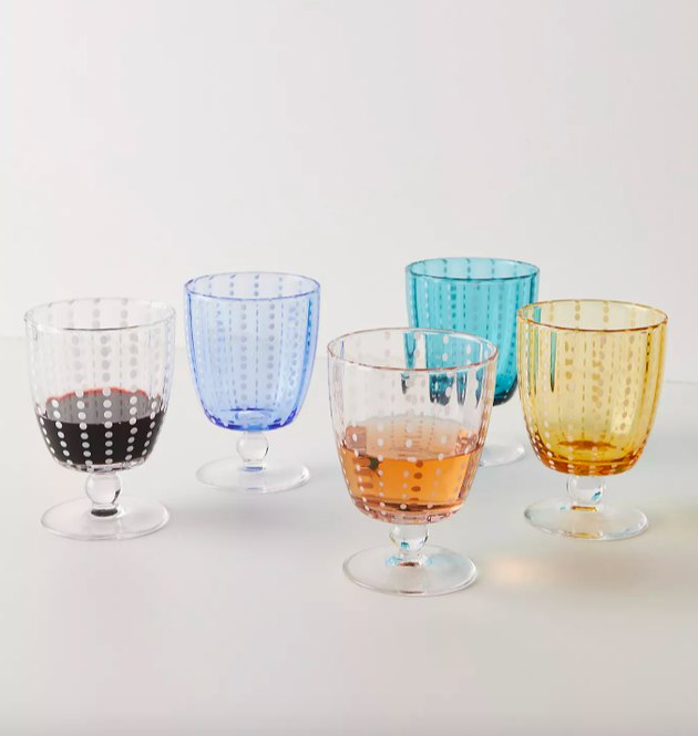 anthropologie selma wine glasses