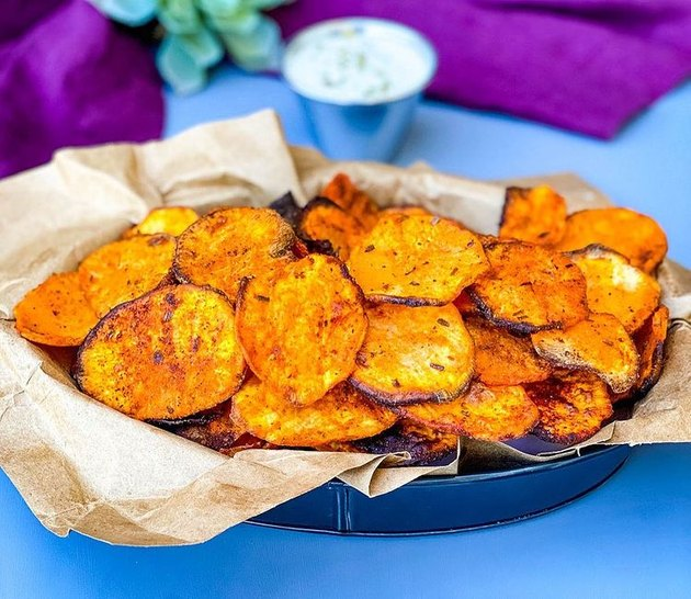 Stay Snatched Easy Air Fryer Sweet Potato Chips