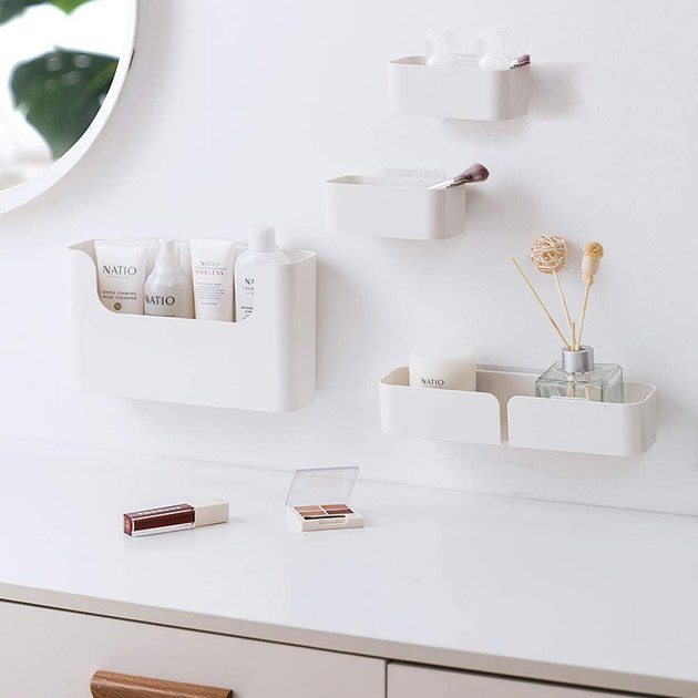 adhesive bathroom shelves