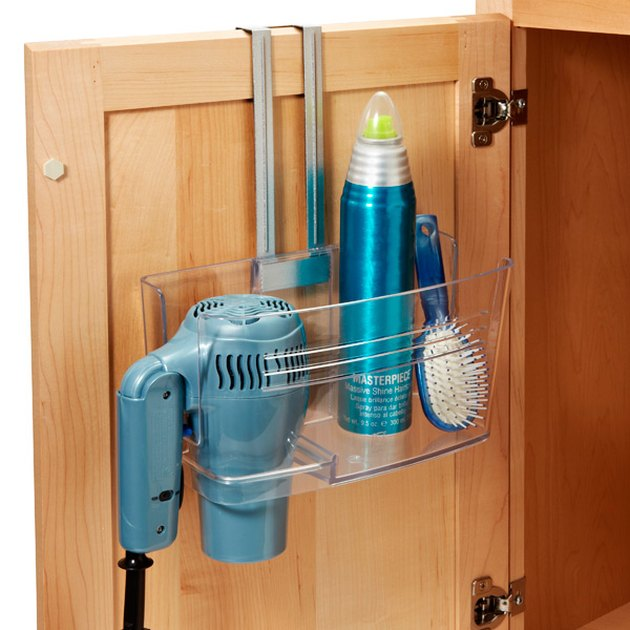 clear over the cabinet door caddy