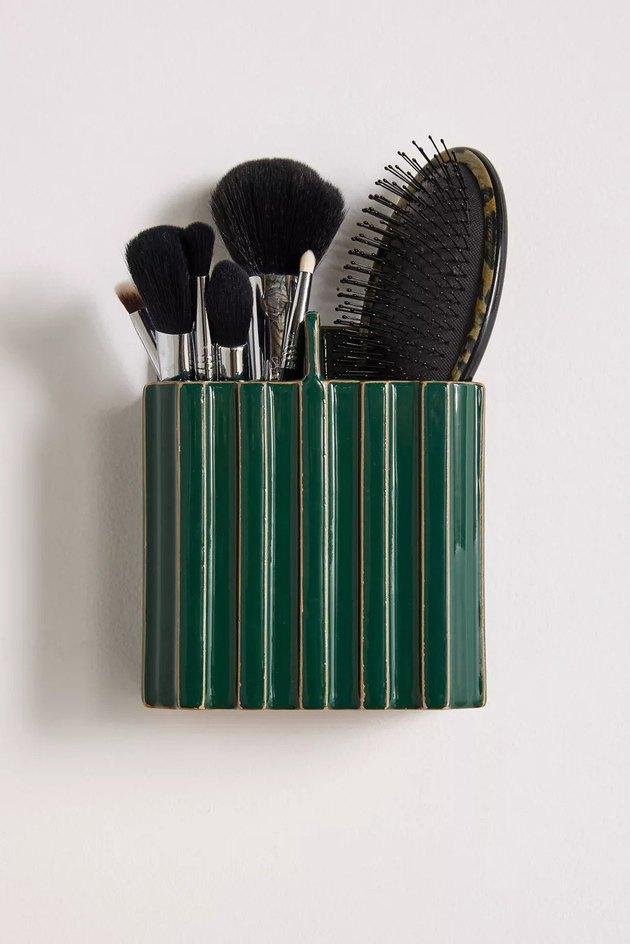 wall mounted hair accessory organizer