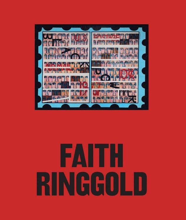 red book with text Faith Ringgold