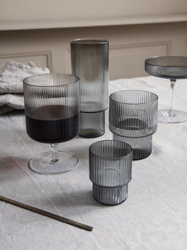 ripple glassware on table