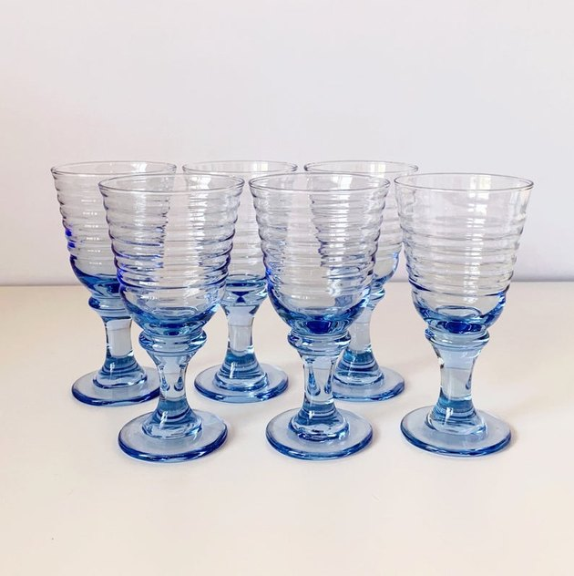 blue ripple glasses