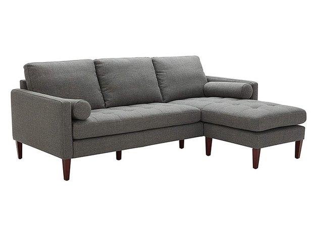 Rivet Aiden Midcentury Modern Reversible Sectional Sofa