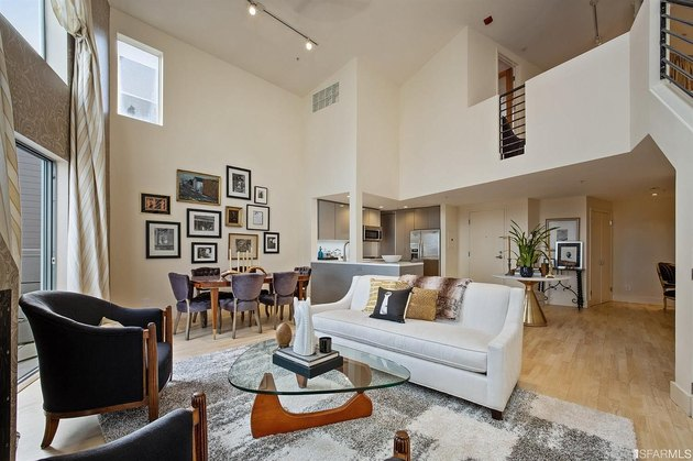 kamala harris san francisco apartment living room and dining area