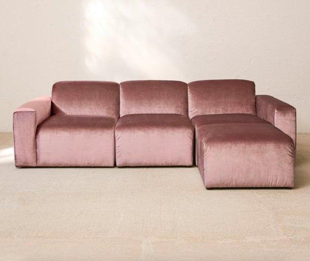 urban outfitters Modular Velvet Sofa