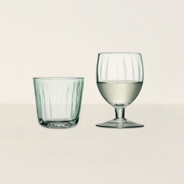tumbler and wine glass
