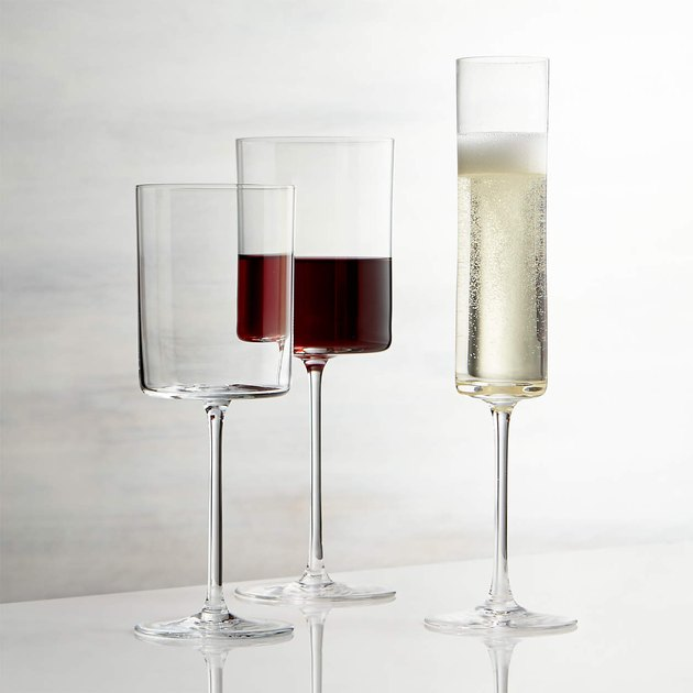 Square edge wine glasses