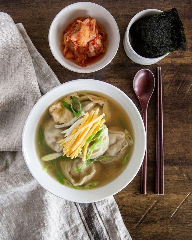 My Korean Kitchen Manduguk (Korean Dumpling Soup)