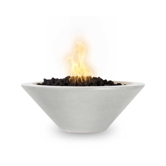 white tapered contemporary fire pit by The Outdoor Plus