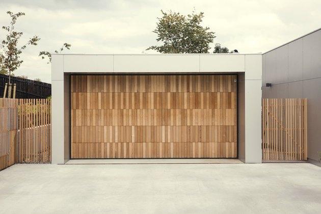 cedar modern garage doors