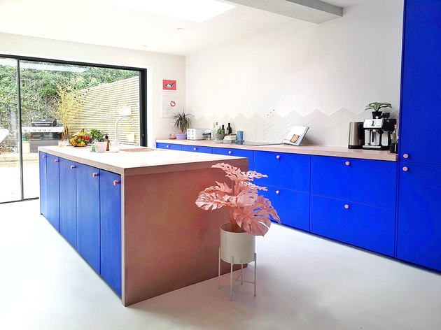 cobalt blue contemporary colors in kitchen