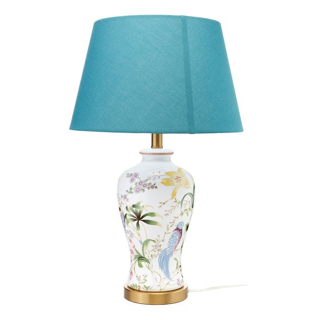 floral ceramic table lamp