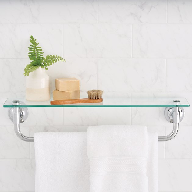 Better Homes & Gardens Chandler Towel Bar With Glass Shelf