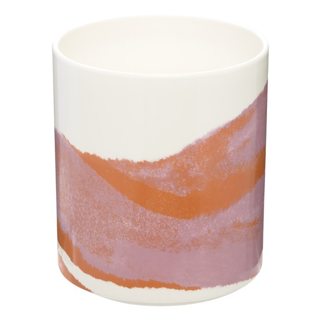 pink and orange marble utensil holder