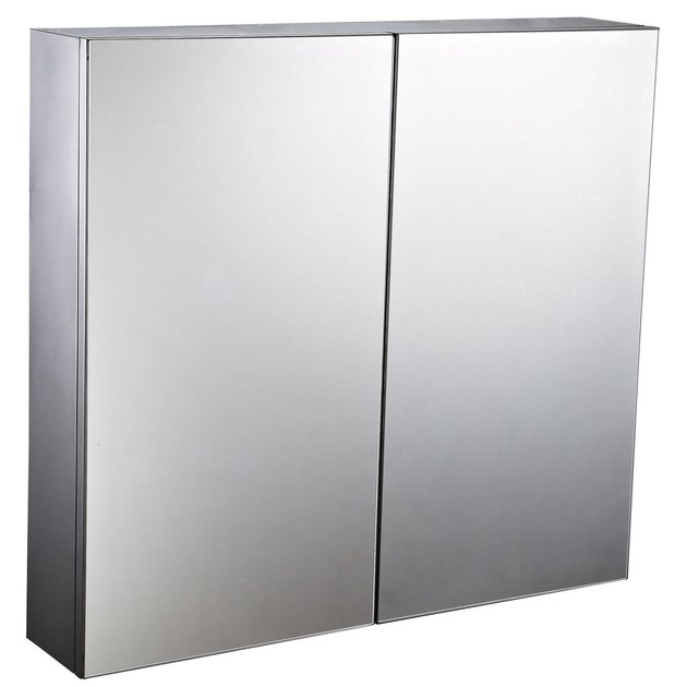 HomCom Stainless Steel Wall Mirror Double Door Medicine Cabinet