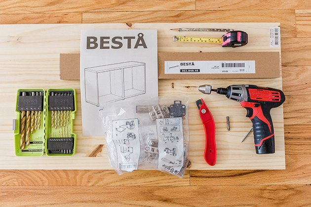 Here's what you'll need to turn your IKEA BESTA unit into a floating console.