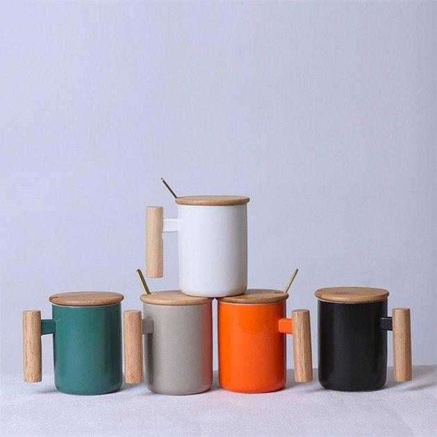 Efloran Home Design Bamboo Handle Mug, $15