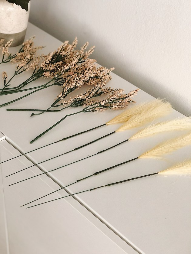 Faux pampas grass and berry bundle