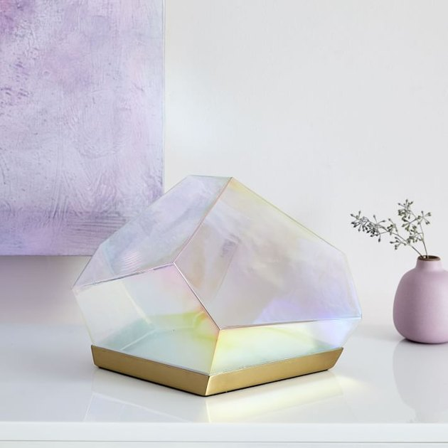 West Elm Glass Gem LED Table Lamp