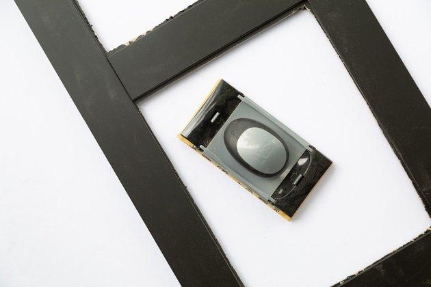 Outil de papier de verre et panneau noir