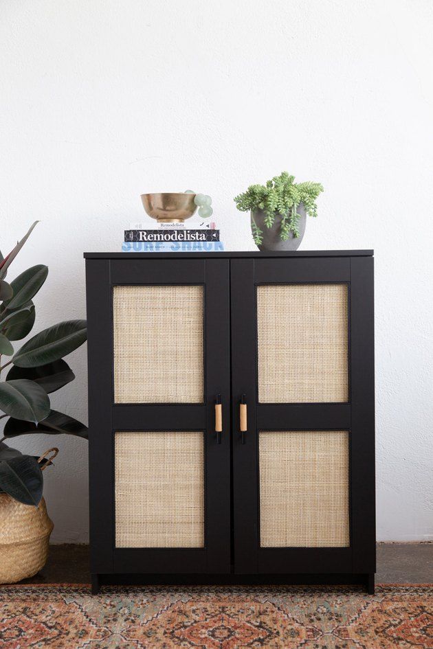 Black and cane IKEA Brimens cabinet