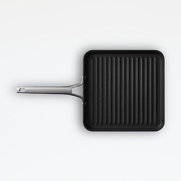 "stovetop griddle Calphalon Premier Non-Stick 11"" Square Grill Pan from Crate & Barrel"