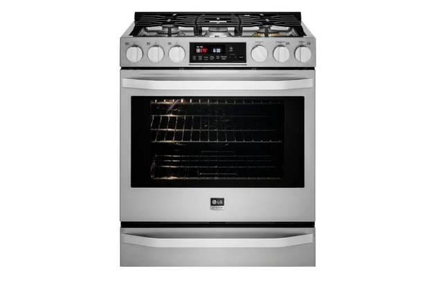 best gas stove LG STUDIO 6.3 cu. ft. Smart Wi-Fi Enabled Gas Slide-in Range with ProBake Convection®