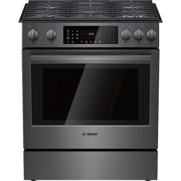 best gas stove Bosch 800 5 Burners 4.8-cu ft Self-Cleaning Convection European Element Slide-In Gas Range