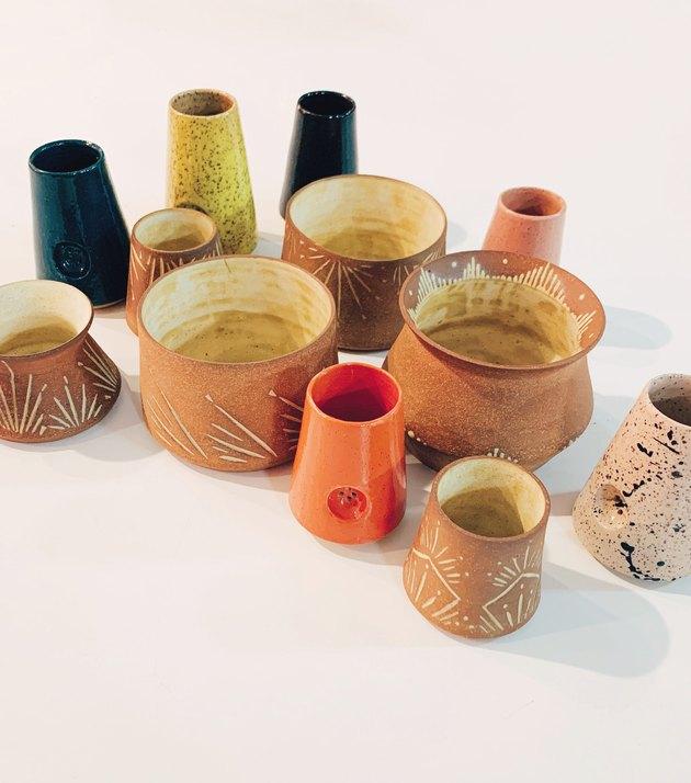 ceramic pieces in various colors