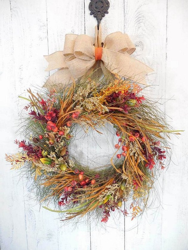 rustic Thanksgiving wreath