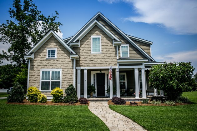 Large two story new construction home in the suburbs