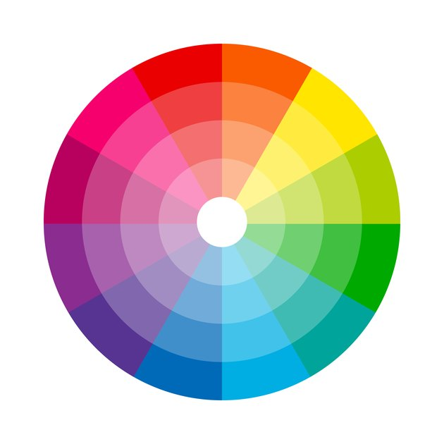 Color wheel isolated circle illustration vector