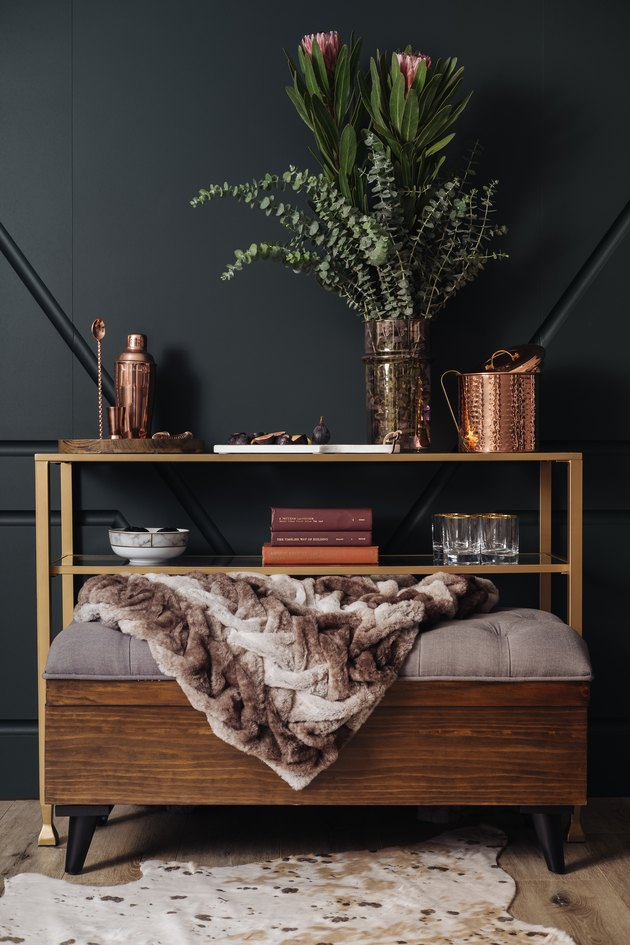 Walmart Fall Rustic Luxe Bar Cart