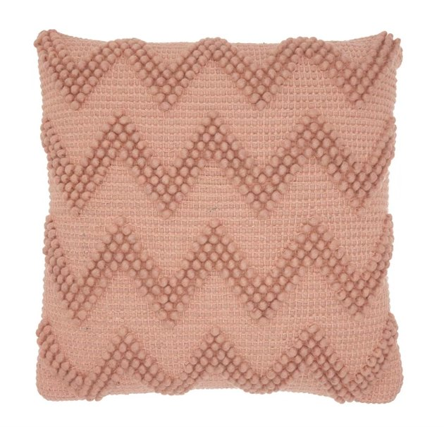 Chevron pillow brings on-trend style to your space, while the square shape coordinates with the rest of your pillows. Wool throw pillow offers a durable construction.