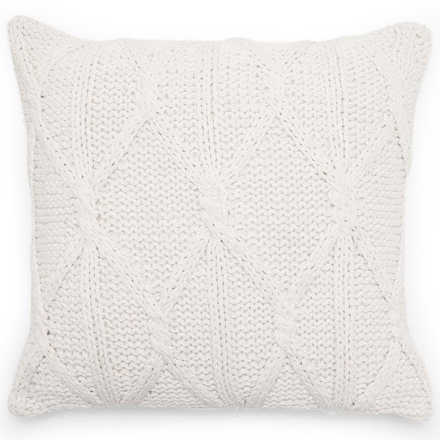 "MoDRN Scandinavian Knit Braided Decorative Throw Pillow, 18"" x 18"""