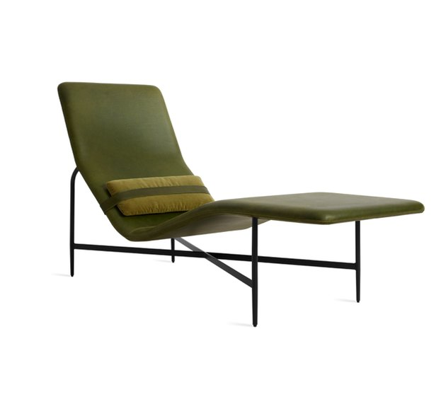 Deep Thoughts Leather Chaise Lounge
