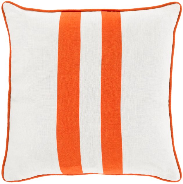 Blending bold and light elements of design, this flawless pillow will fashion an exquisite addition to your decor. 100% Linen, crafting a piece that embodies smooth sophistication from room to room within any home decor.