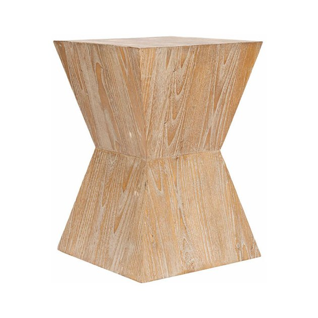 Safavieh Natak Nautical Straight Curved Oak Side Table