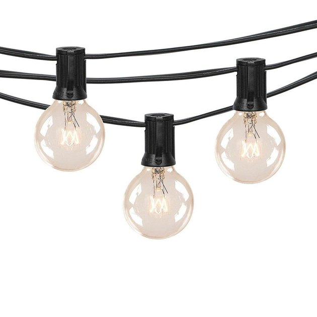 Create a festive atmosphere in your outdoor space with the Better Homes and Gardens Clear Globe String Lights. It provides warm lighting for backyard events and is suitable for year-round use. It features 20 clear lights with a brown cord that easily blends in with its surroundings.